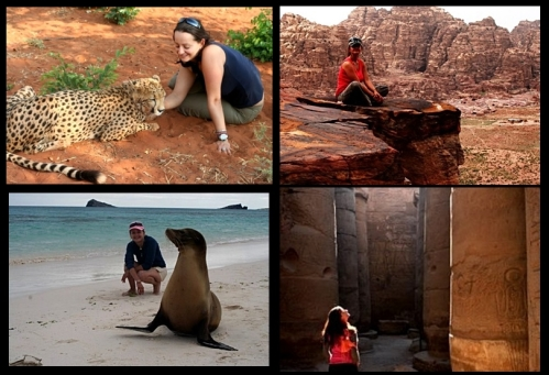 Cuddling a cheetah in Zambia, absorbing the serenity of Petra in Jordan, getting up close and personal with Galapagos seals and being overawed by Egypt's Luxor Temple. Choose to break free...and you can do it all